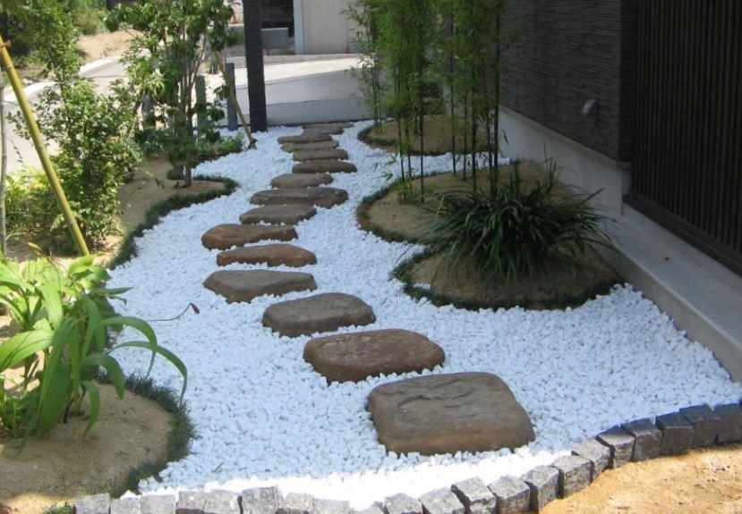 Белый камень в ландшафтном дизайне